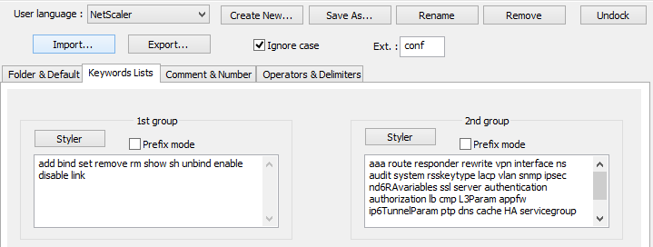NetScaler Syntax Highlighting for Notepad++ | Desktops & Apps